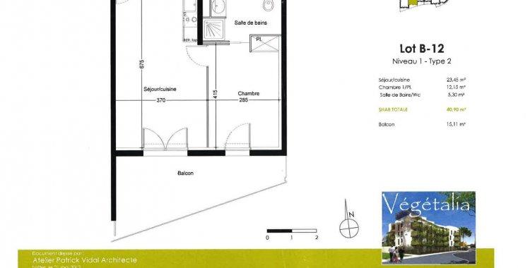T2 40m² ST MARTIN DU TOUCH - TOULOUSE 31300